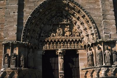 Door with Decorative Relief from Santa Maria La Real Church, Sasamon, Castile and Leon, Spain
