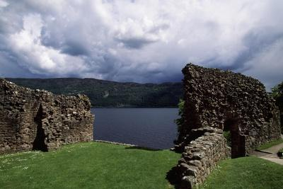 View of Urquhart Castle with Loch Ness in the Background