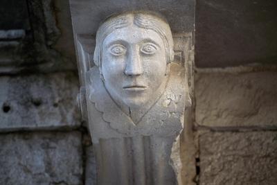 Human Face, Detail of Balcony Depicting Human Face, Historical Centre, Barletta, Apulia, Italy