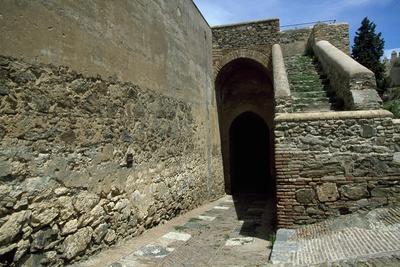 Spain, Andalusia, Malaga, Alcazaba Fortress