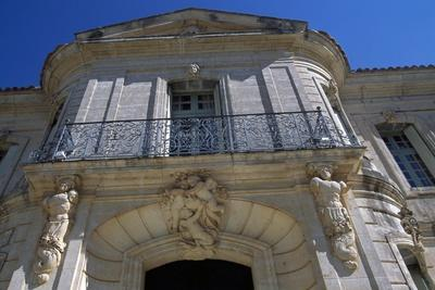 View of Chateau D'Angarran's Main Facade, Near Laverune, Languedoc-Roussillon, France