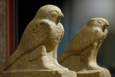 Horus in Form of Hawk, Stone Statues