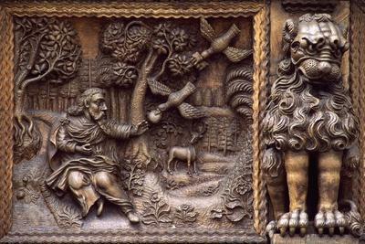 Carved Window Box from Zum Greif House, Gallusstrasse, St Gallen, Canton of St Gallen