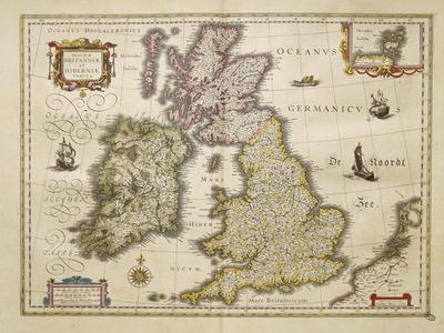 Great Britian and Ireland from Theatrum Orbis Terrarum by Willem Bleau, Amsterdam, 1635-1645