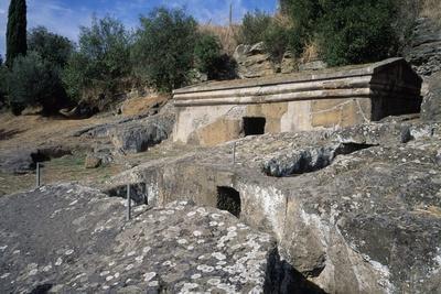 Cube Tomb, Etruscan Necropolis of Peschiera, Tuscania, Lazio, Italy