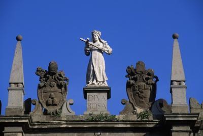 Statue of St. Rose Overlooking Porta Romana, Rome, Lazio, Italy