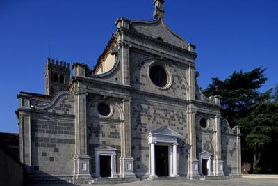 Facade of Abbey Church, Abbey of St. Mary of Assumption, Praglia, Veneto, Italy