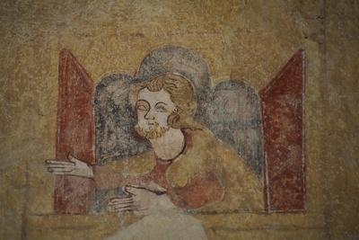Fresco of Church in Saint-Pierre, Moutier-En-Puisaye, Burgundy, Detail, France, 13th-14th Century