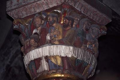 Capital with Polychrome Decoration, Choir of Abbey Church of Saint Austremoine
