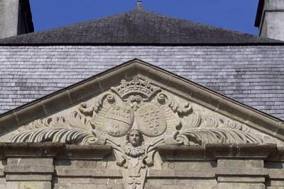 Chateau De Tregranteur's Facade, Guegon, Brittany, Detail, France, 18th-19th Century