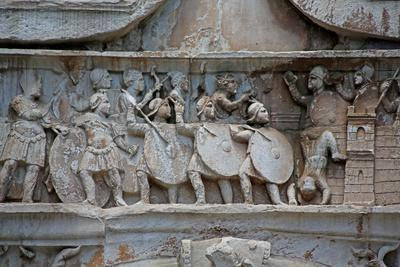 Detail from Constantine's Arch in the Colosseum