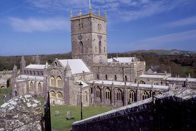 View of Saint David's Cathedral, Saint Davids, Pembrokeshire, Wales, 12th-19th Century