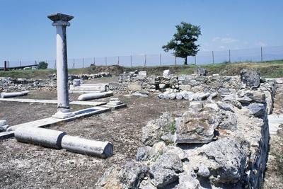 Ruins of the Basilica, Amphipolis, Greece. Roman Civilization, 5th-6th Century
