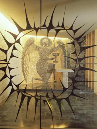 Coventry Cathedral - the Chapel of Christ in Gethsemane, Archangel with Three Sleeping Diciples