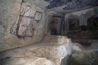 Interior of Tomb in Necropolis of Via Amerina in Tre Ponti, Falerii Novi, Lazio, Italy