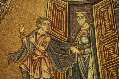 Joseph and Potiphar's Wife, Mosaic in St. Mark's Basilica, Venice, Italy, 11th-13th Century