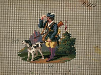 Hunter with Dog Embroidery Design