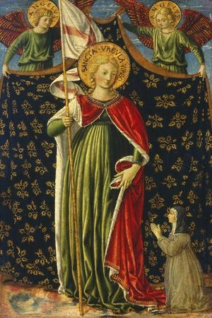 Saint Ursula with Two Angels and Donor, C.1455-60