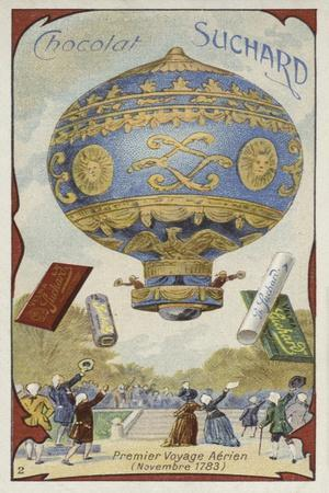 First Manned Balloon Flight, November 1783