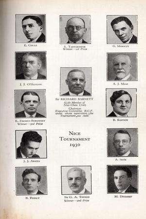 Participants of Nice Chess Tournament, 1930