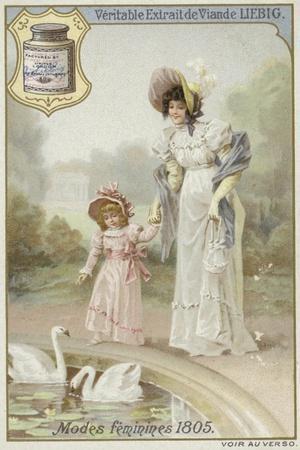 Liebig Card Featuring Women's Fashions