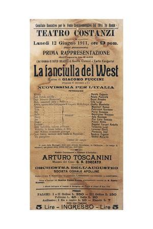 Playbill for La Fanciulla Del West