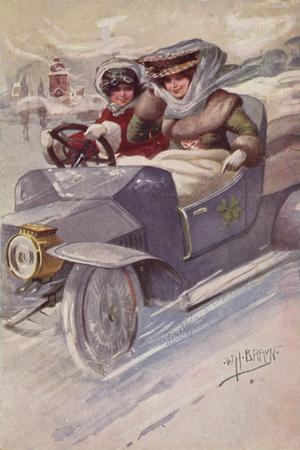 Two Women Making a Car Journey in Winter