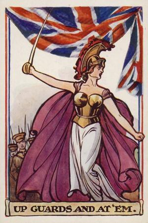 Britannia with Soldiers and Union Flag