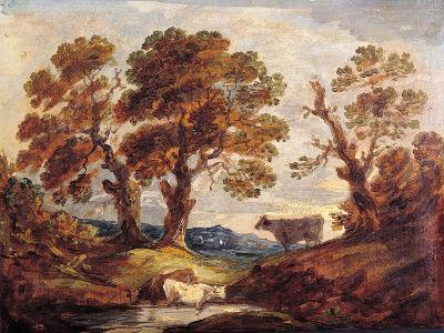 Wooded Landscape with Cows, C.1795