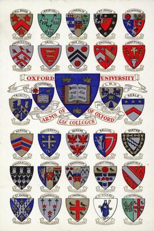 Arms of the Colleges of Oxford University