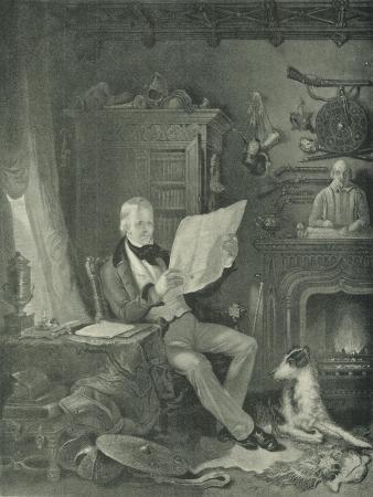 Sir Walter Scott at Abbotsford