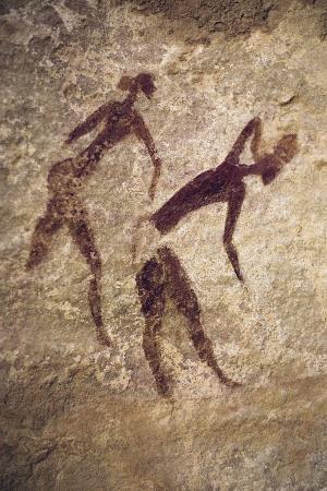 Human Figures, Cave Painting, Tassili N'Ajjer