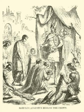 Romulus Augustus Resigns the Crown