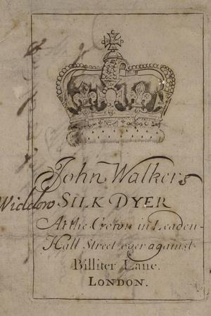 Silk Dyer, John Walker, Trade Card