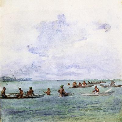 A Fishing Party, Samoa, 1890