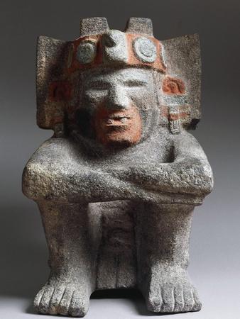 Mexico, Aztec Civilization, Statue of God of Fire