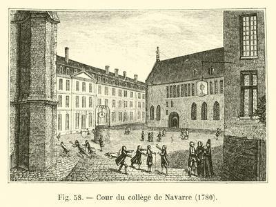 Cour Du College De Navarre, 1780