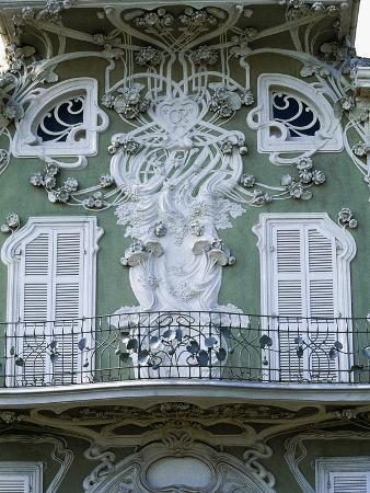 Decorative Detail of Facade, Villa Ruggeri