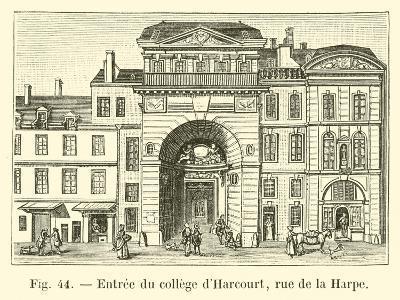 Entree Du College D'Harcourt, Rue De La Harpe