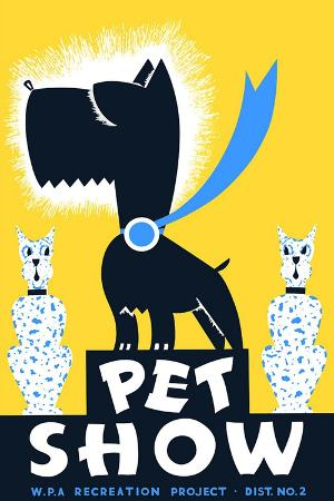 Wpa Pet Show Poster