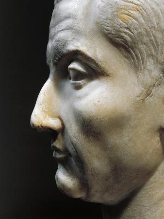Marble Head of Julius Caesar