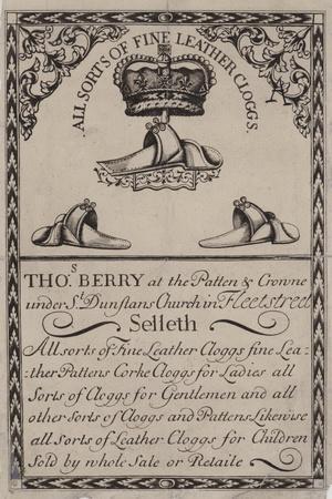 Clog Makers, Thomas Berry, Trade Card