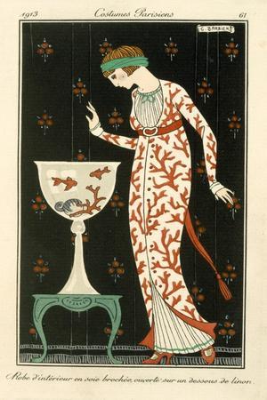 Silk House Dress, Fashion, 1913