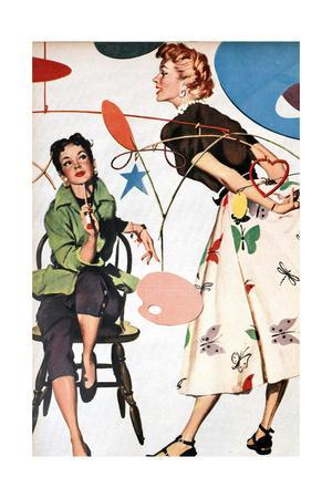 Illustration from a Women's Magazine, 1954
