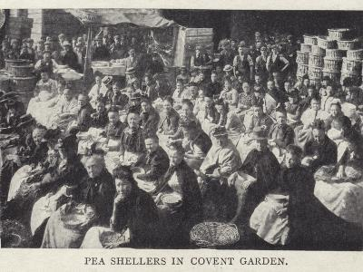 Pea Shellers in Covent Garden, London