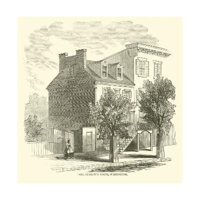 Mrs Surratt's House, Washington, April 1865