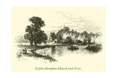 Clifton Hampden Church and Ferry