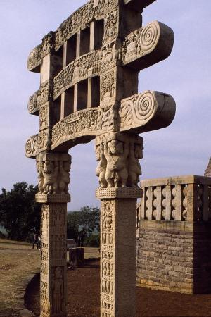 Gate of the Stupa III in Sanchi