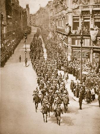 Anzac Day in London, 25th April 1919