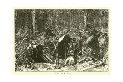 A Native Encampment